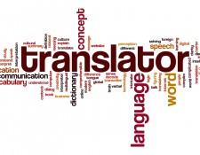 Translator word cloud concept
